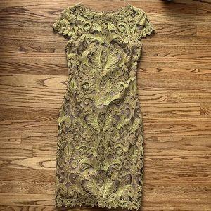 Stunning Tadashi Shoji Gold Dress